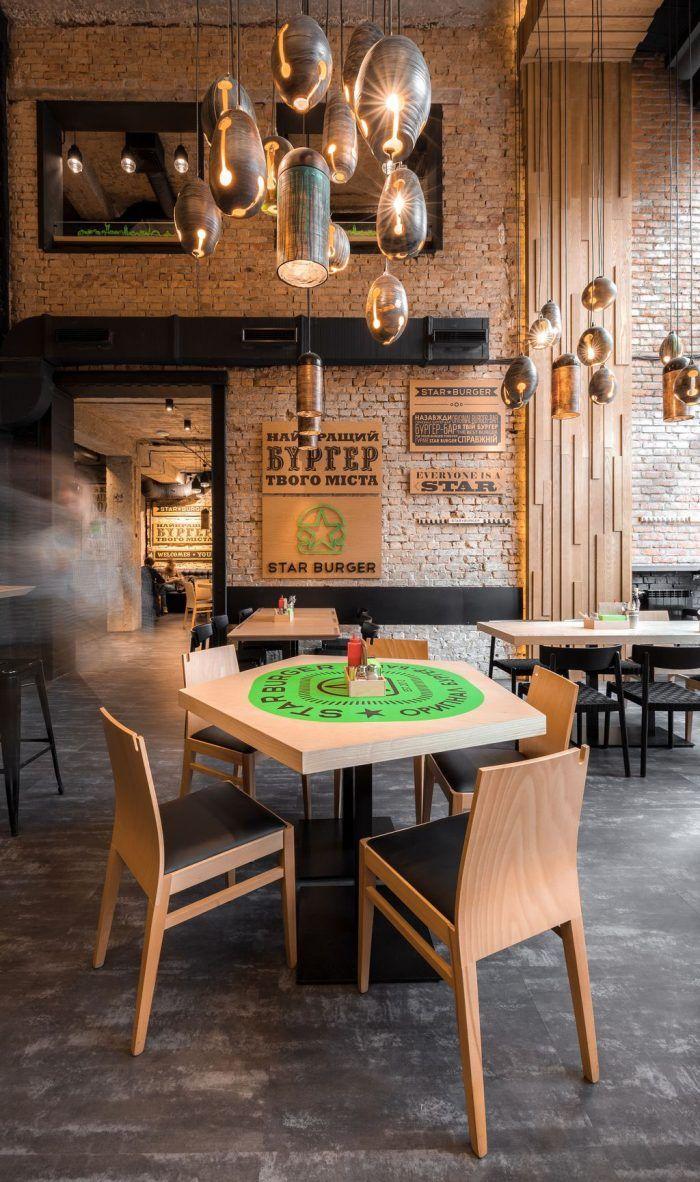 Star burger interior design and branding hip eateries