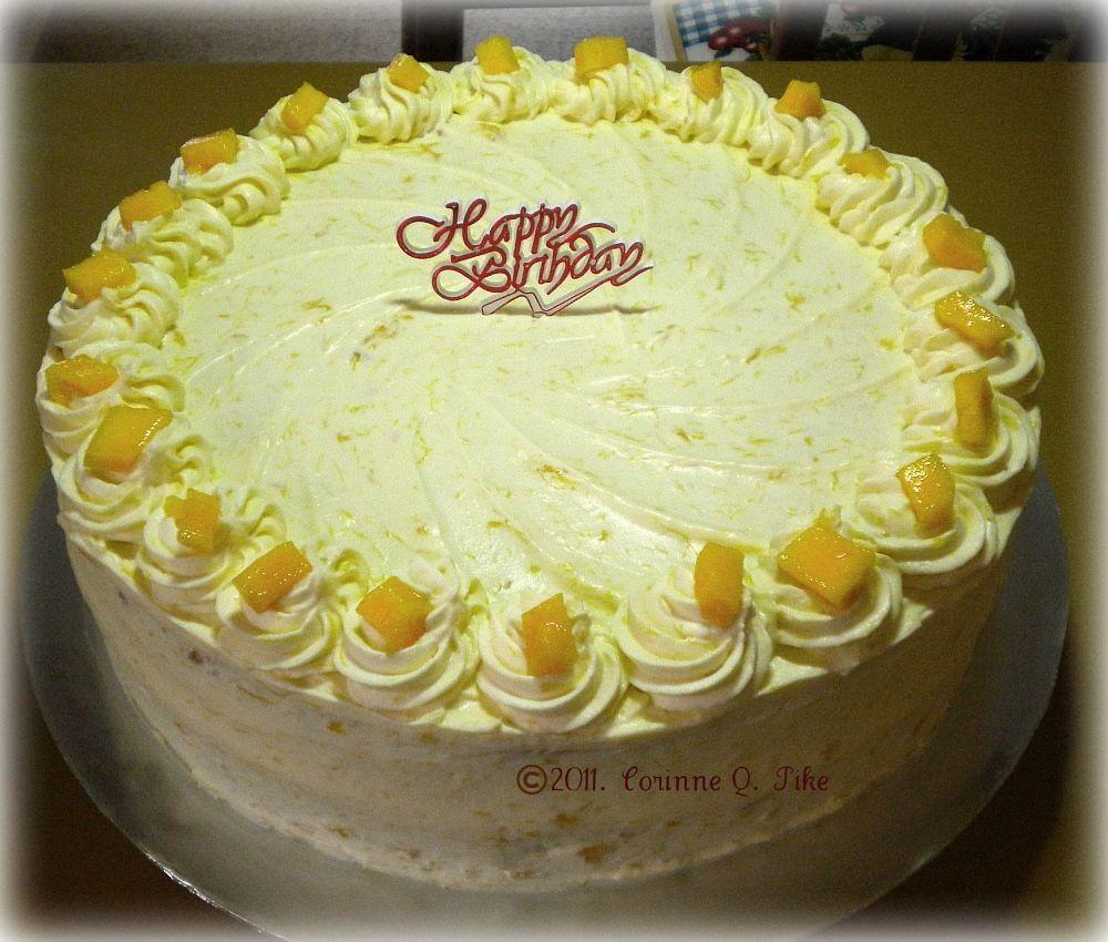 Heart Of Mary: Mango And Cream Cake