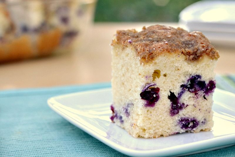 {better for you} Blueberry Muffin Cake