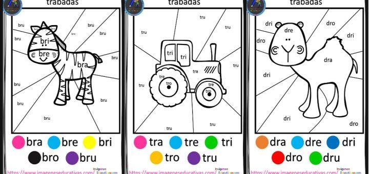 Dibujos Con La Trabada Br: Tu Tarea SLABAS Bra Bre Bri Bro Bru ACTIVIDADES 2 T
