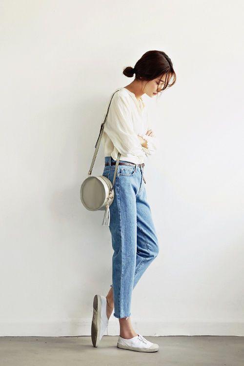 Mom Jeans Jak Je Nosi Blogosfera Trendy 2016 Fashion Street Style Clothes