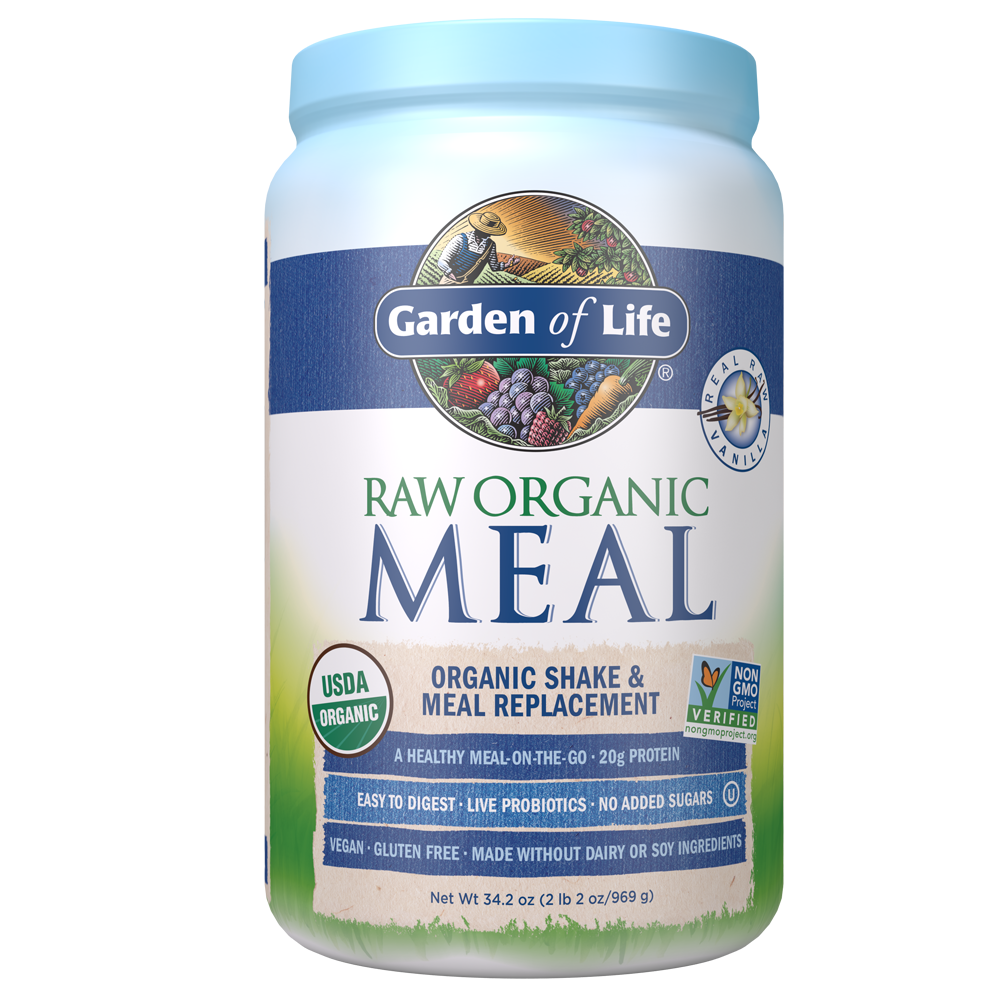 Raw Organic Meal Shake Meal Replacement Vanilla 34 2 Oz 969g