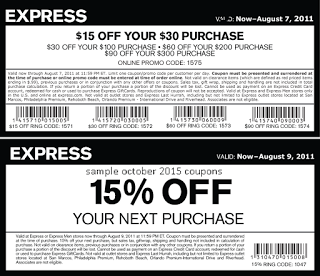 image regarding Express Coupons Printable 30 Off 75 named No cost Printable Coupon codes: Categorical Discount codes sizzling discount codes