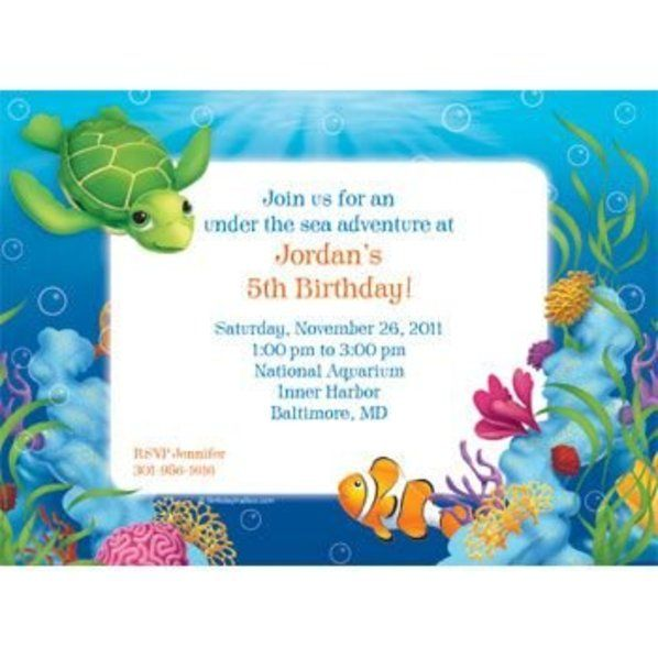 Ocean Party Personalized Invitation each – Ocean Party Invitations