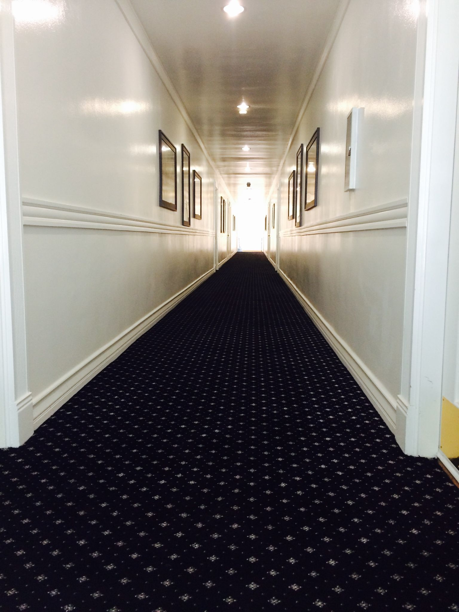 Commercial installations: Hotel hallway carpeting