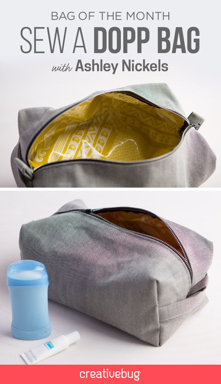 de17afdf0b Sewing a dopp bag is easier than you might think. Ashley Nickels teaches  you how