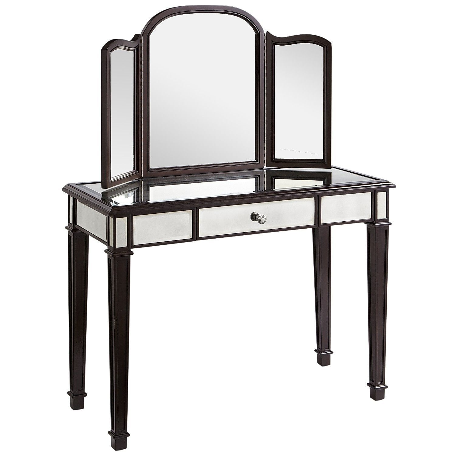 The Glamorous Pier 1 Hayworth Espresso Mirror Vanity Is About