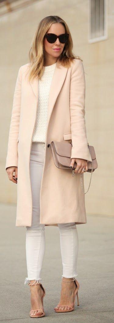 Causal Coat , Love this Denim and Heels by Brooklyn Blonde