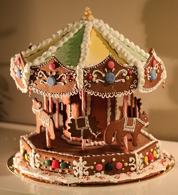Pepparkakskarusell, pepparkakshus karusell, gingerbread house