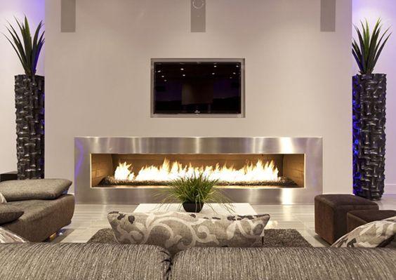 24 Ideas para Decorar una Chimenea en Casa - diseo de chimeneas para casas