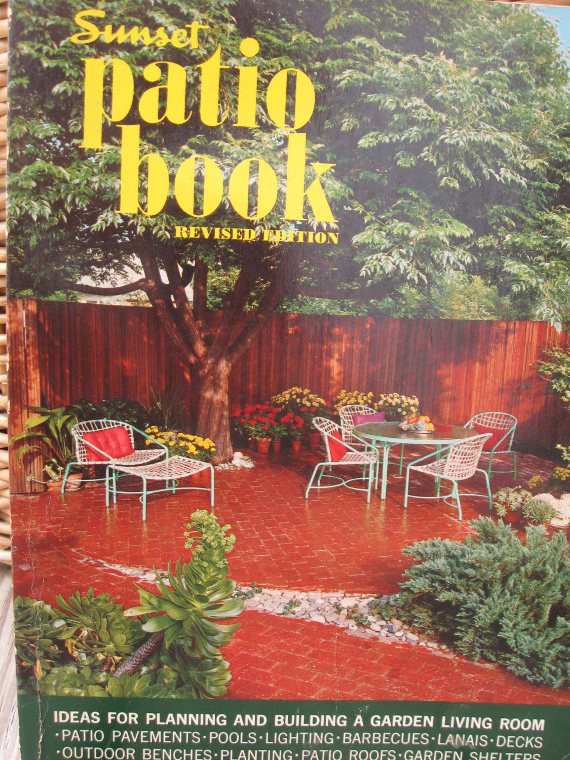 sunset patio book home decor decorating mid century modern architecture atomic house eames era furniture garden design