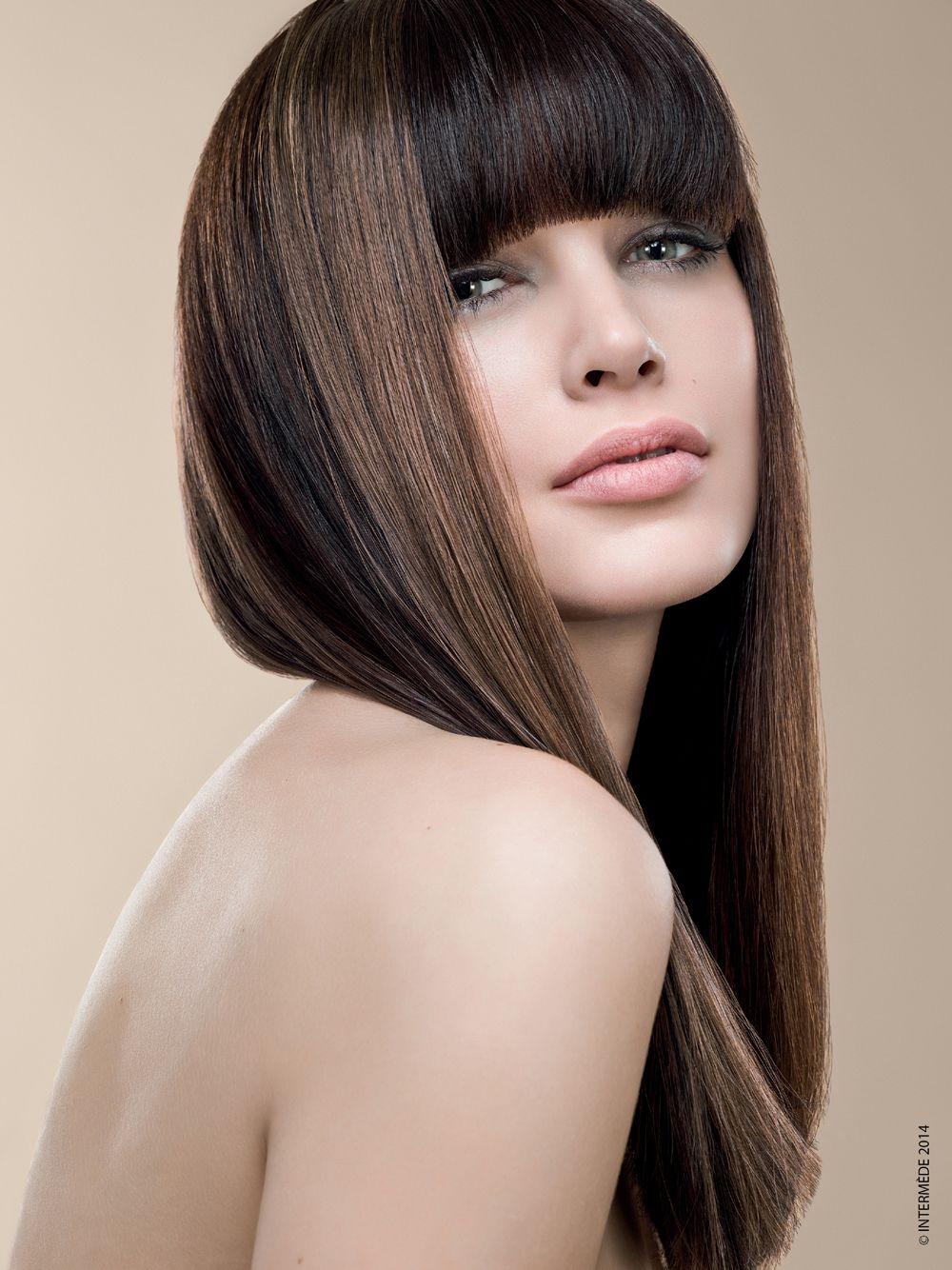 Taglio capelli lunghi lisci con frangia inverno 2014 2015 ...