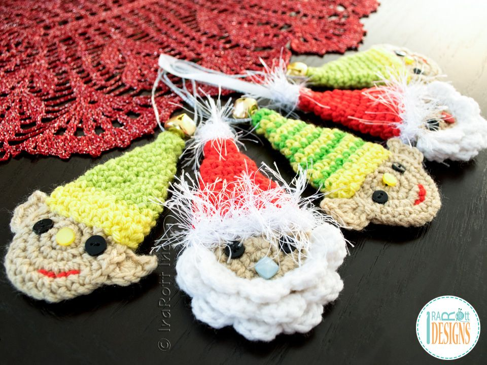 Santa Face Headband Or Decoration For Christmas Crochet Pattern By