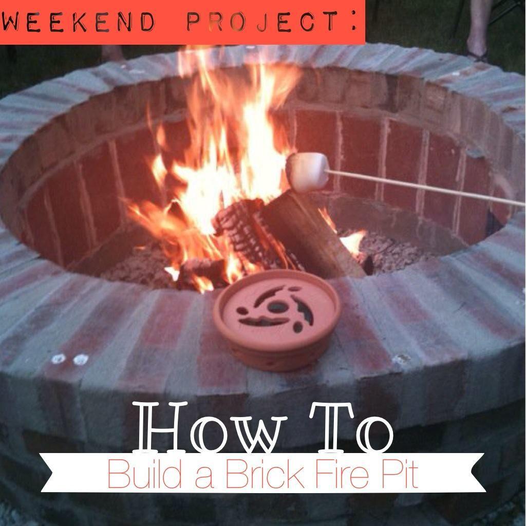 DIY Brick Fire Pit In One Weekend
