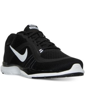 Nike Women's Flex Trainer 6 Wide Training Sneakers from Finish Line - Black 8.5