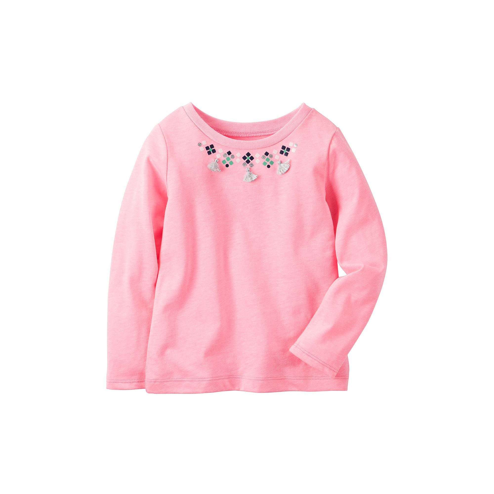 Baby Girl Carter's Tassel Necklace Pink Top, Size: 12 Months