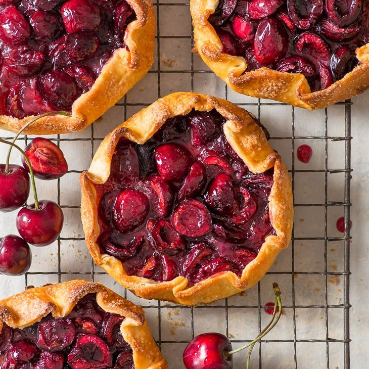 Cherry galettes gluten free boasting the perfect flaky