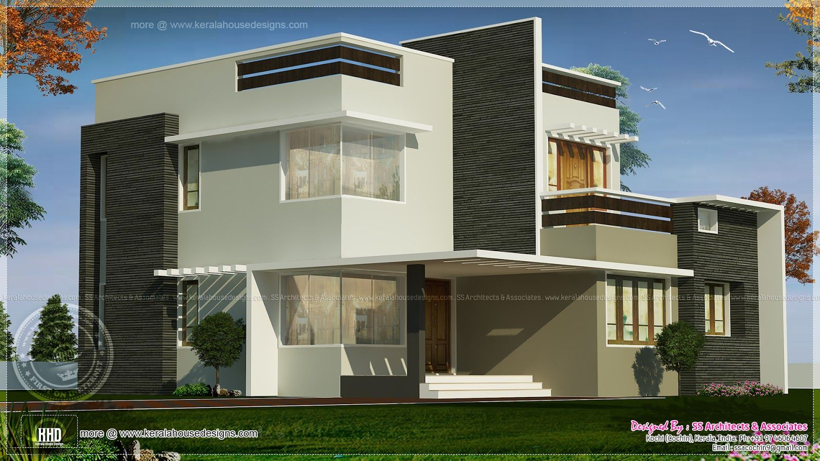 Square Feet Box Type Exterior Home Kerala Home Design Floor Square Feet  Contemporary Home Exterior House Design Plans Square Feet Box Type Exterior  Home ...