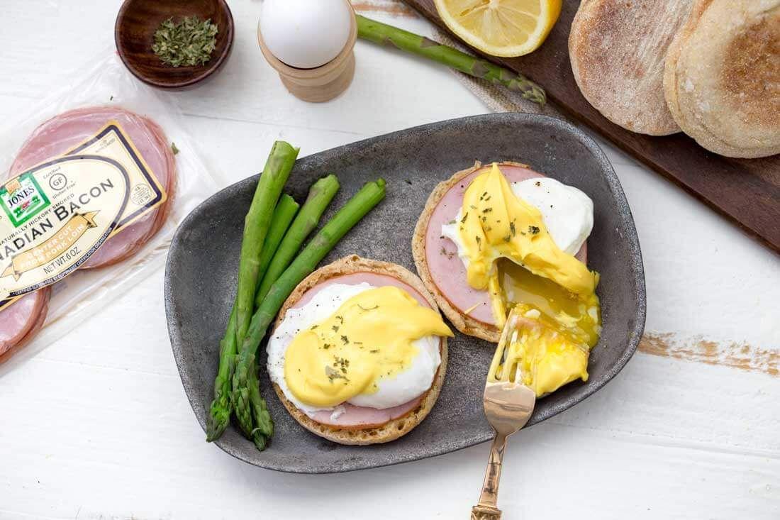 Easy eggs benedict receta