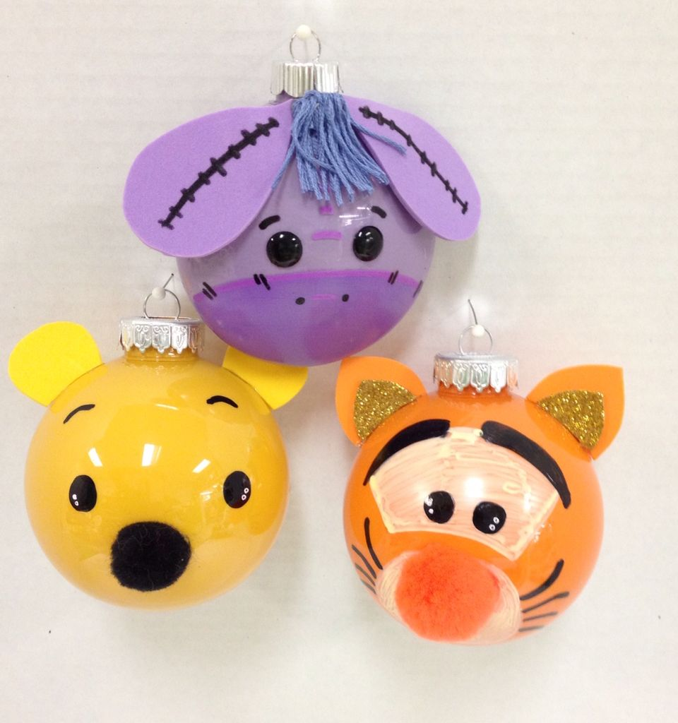 Tigger Christmas Ornaments.Eeyore Pooh Tigger Handmade Craft Ornaments So Cute