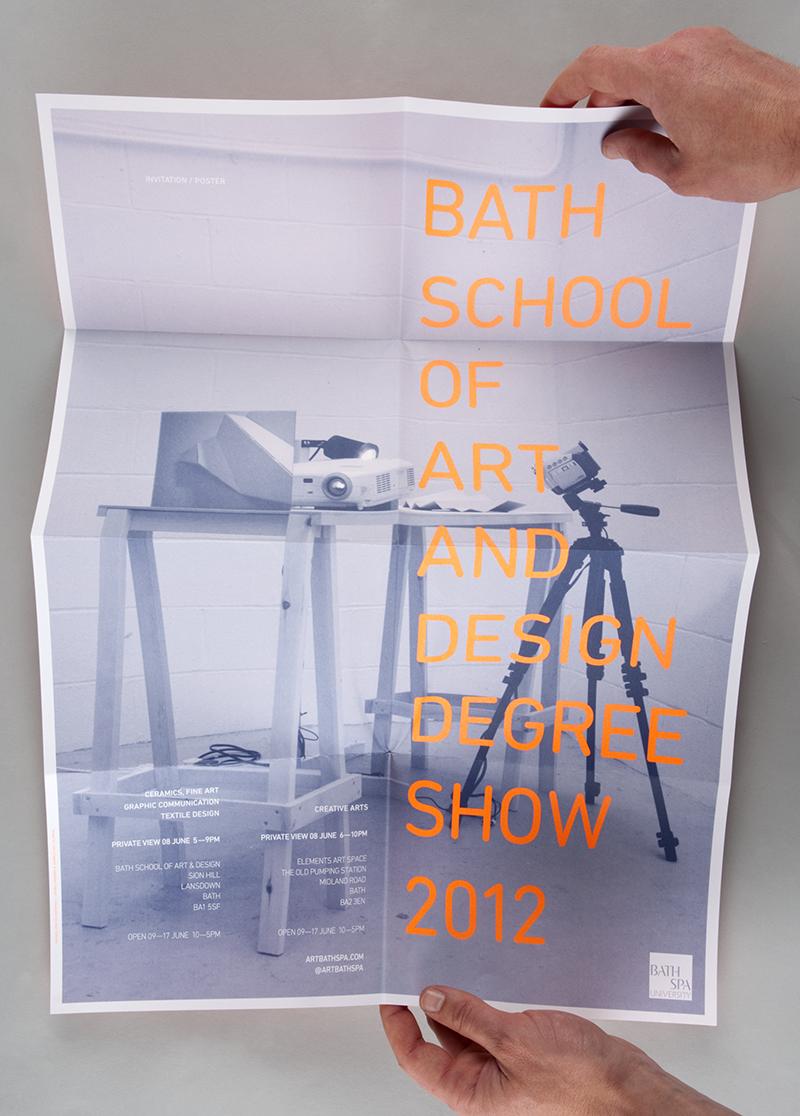 Bath School Of Art & Design Degree Show 2012 Poster Invitation Flyer. 3 000 Copies. 2 Spot