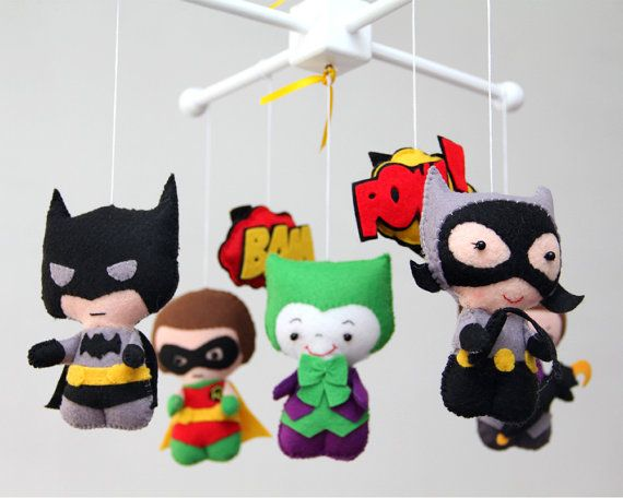 Baby Mobile-Baby Crib Mobile-Super Hero By LesPetitesshop