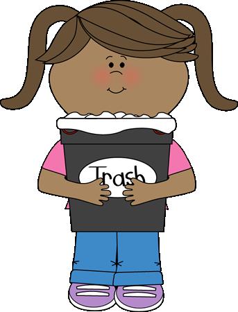 Girl Classroom Trash Helper Clip Art Girl Classroom Trash Helper