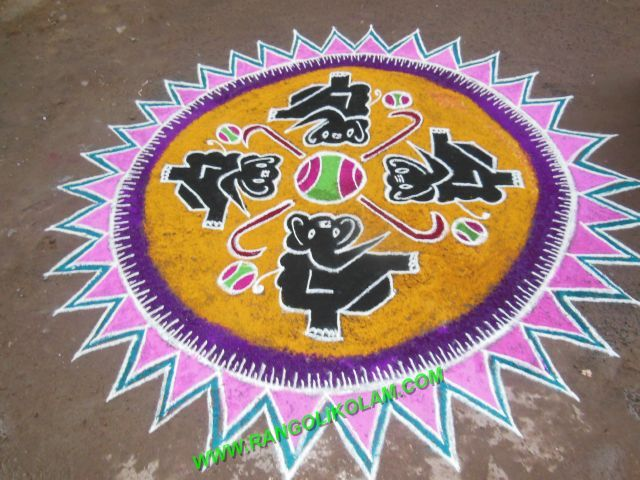 Elepant Kolam With Lovely Design Neer Pulli See The Below Picture As I Shown You Can Easily Capture This