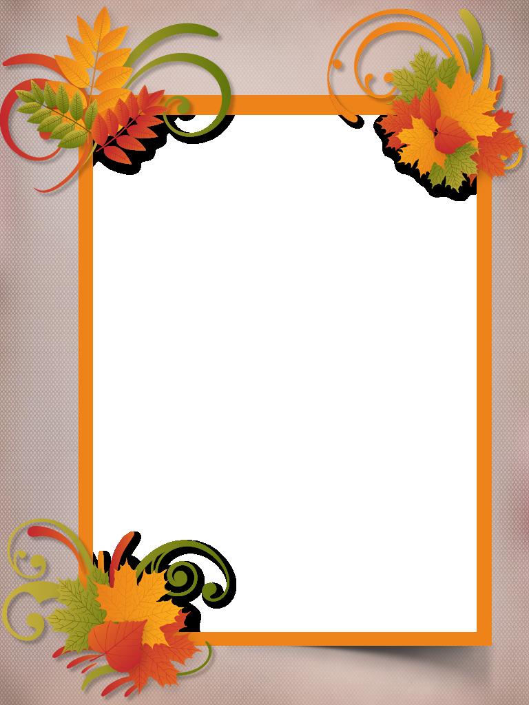 Autumn Frame Png Album Frames Frame Decor Image Frame