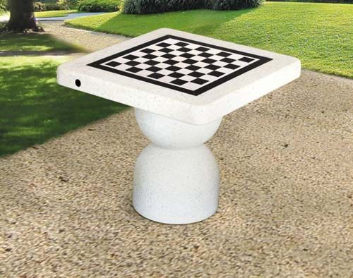 Beau Concrete Outdoor Chess Table