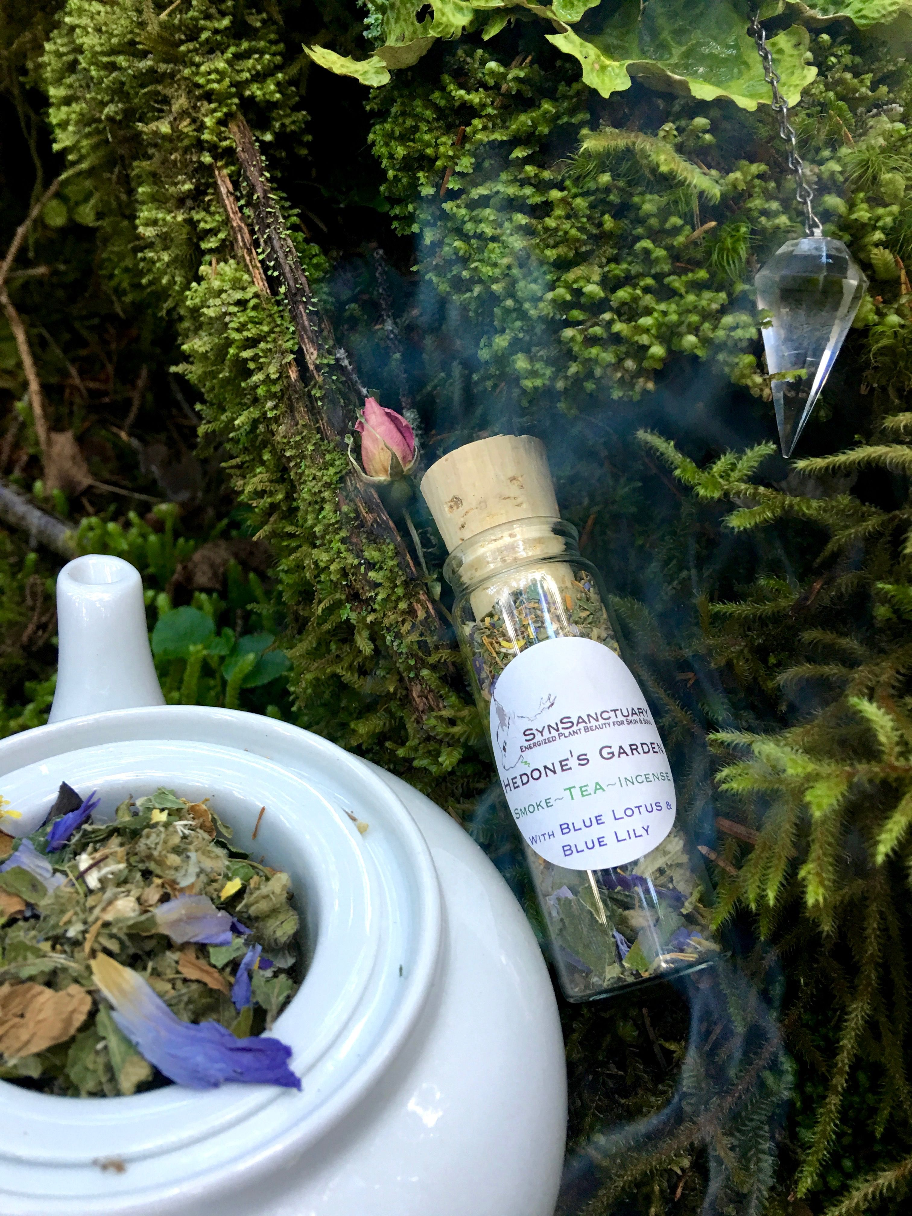 Hedones garden organic herbal tea herbal blend incense hedones garden organic smoke tea incense blend contains organic high potency herbs from around the world as well as plants wild harvested izmirmasajfo