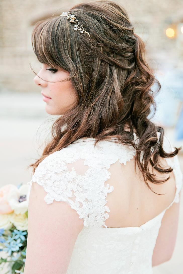 Sparkly headband on bride wedding hairstyles pinterest gardens