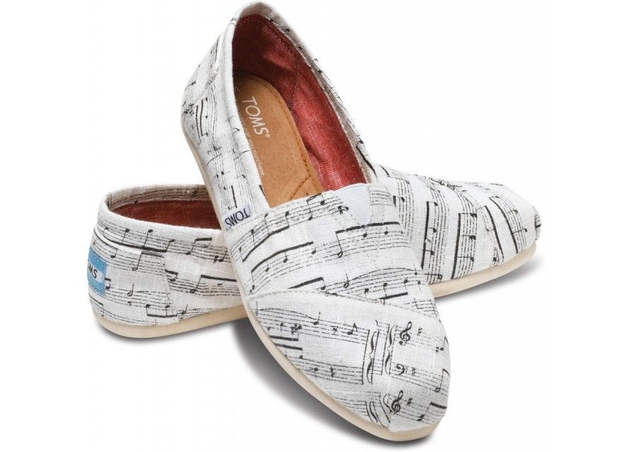 4b7b3072d7b Music Notes Women s Classics hero Painted Toms