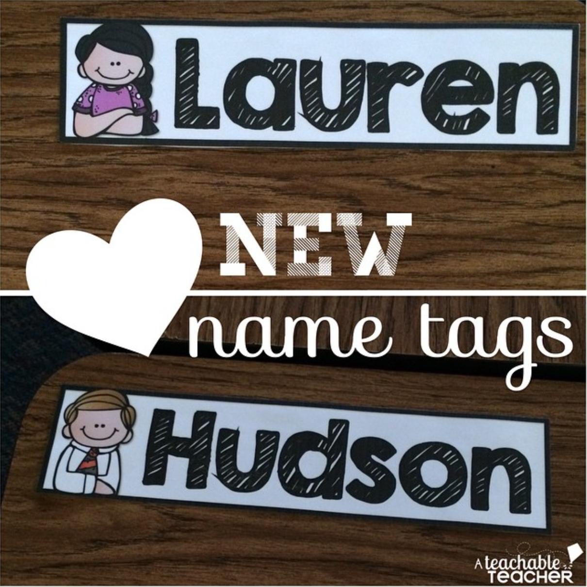 Super Editable Cute Name Tags