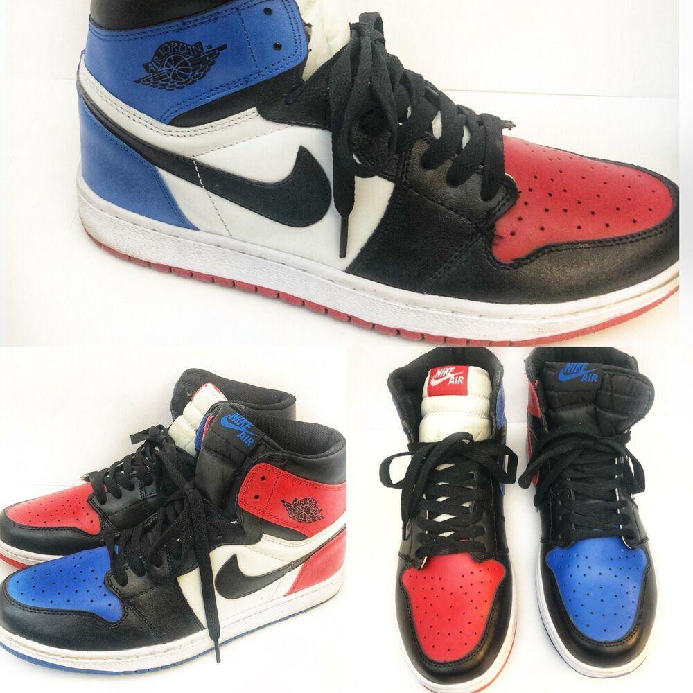 Nike Air Jordan Retro 1 High Og Top White Black Red Blue 555178
