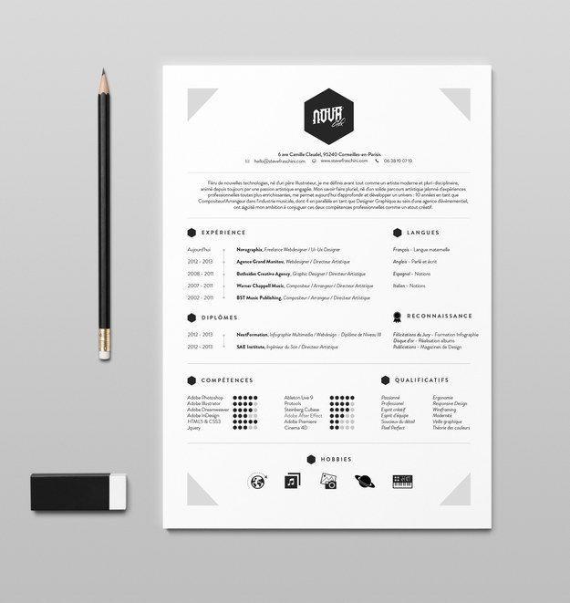 Business infographic  26 CV originaux que vous voudrez
