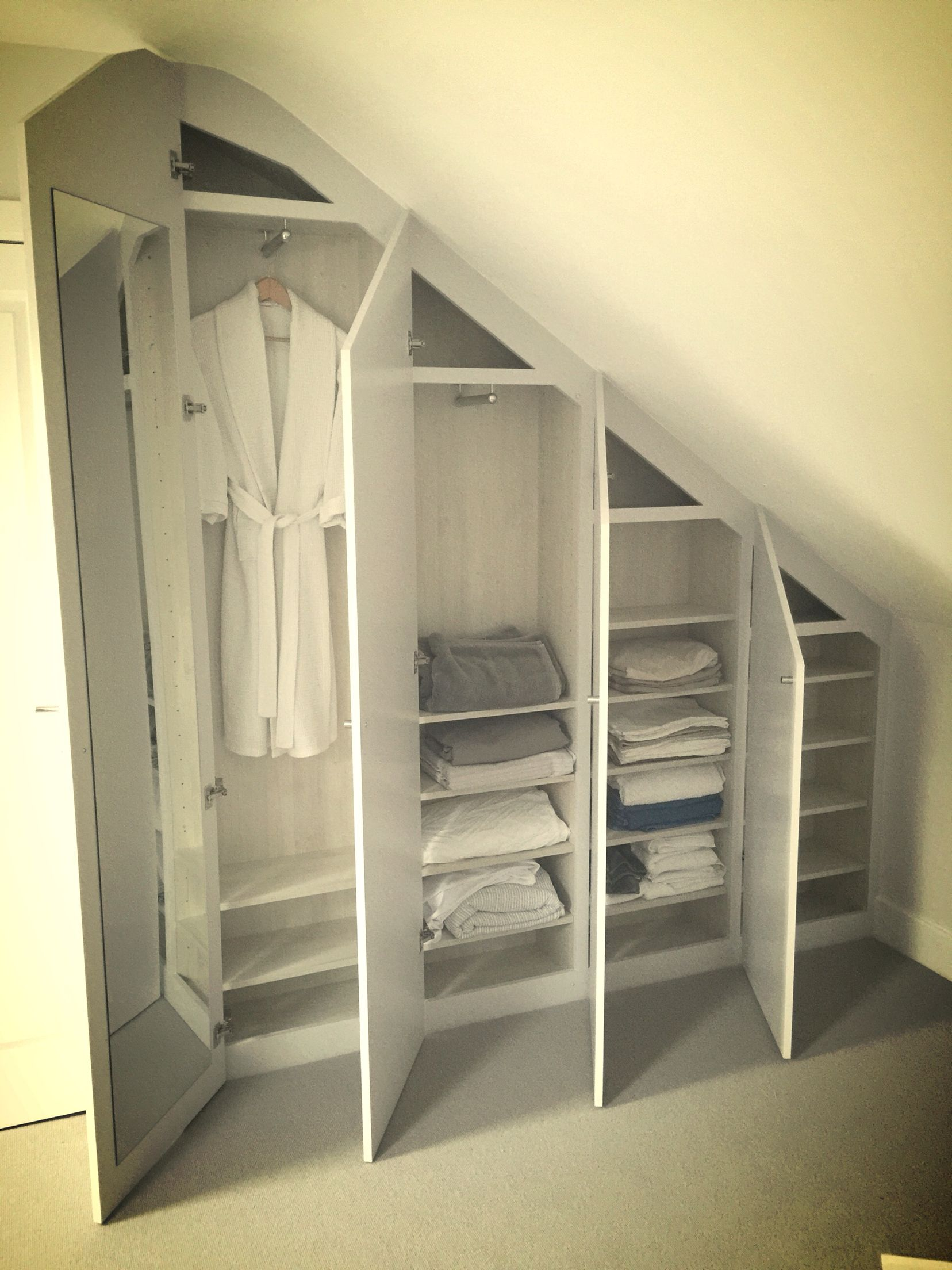 wardrobe to fit in loft conversion m bel pinterest dachboden dachboden ideen und. Black Bedroom Furniture Sets. Home Design Ideas