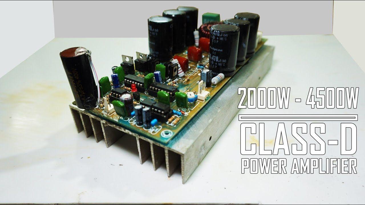 High Power Amp Class D D4k5 Ir2110 Irfp4227 Amplifier In Circuit Board Design