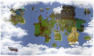 OSRS World map\' Poster by Ben Conod | World map poster ...