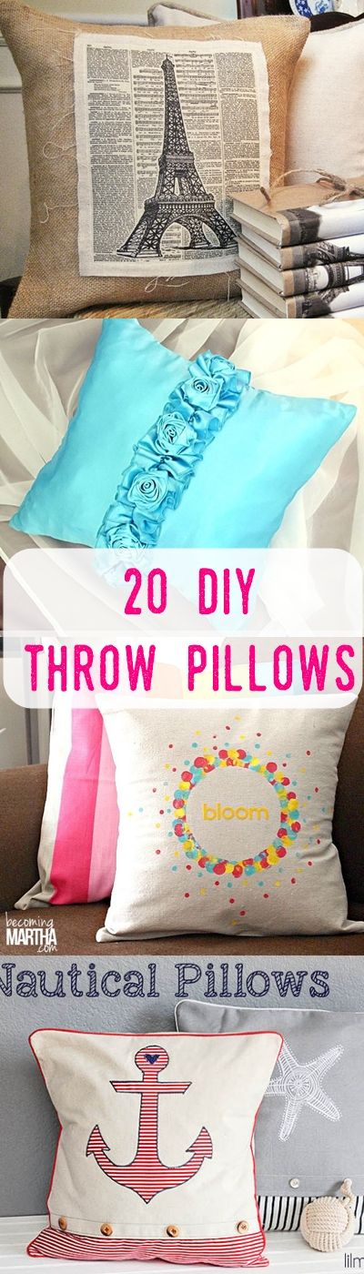 20 Unique DIY Throw Pillows & 20 Unique DIY Throw Pillows | Throw pillows Pillows and Tutorials pillowsntoast.com