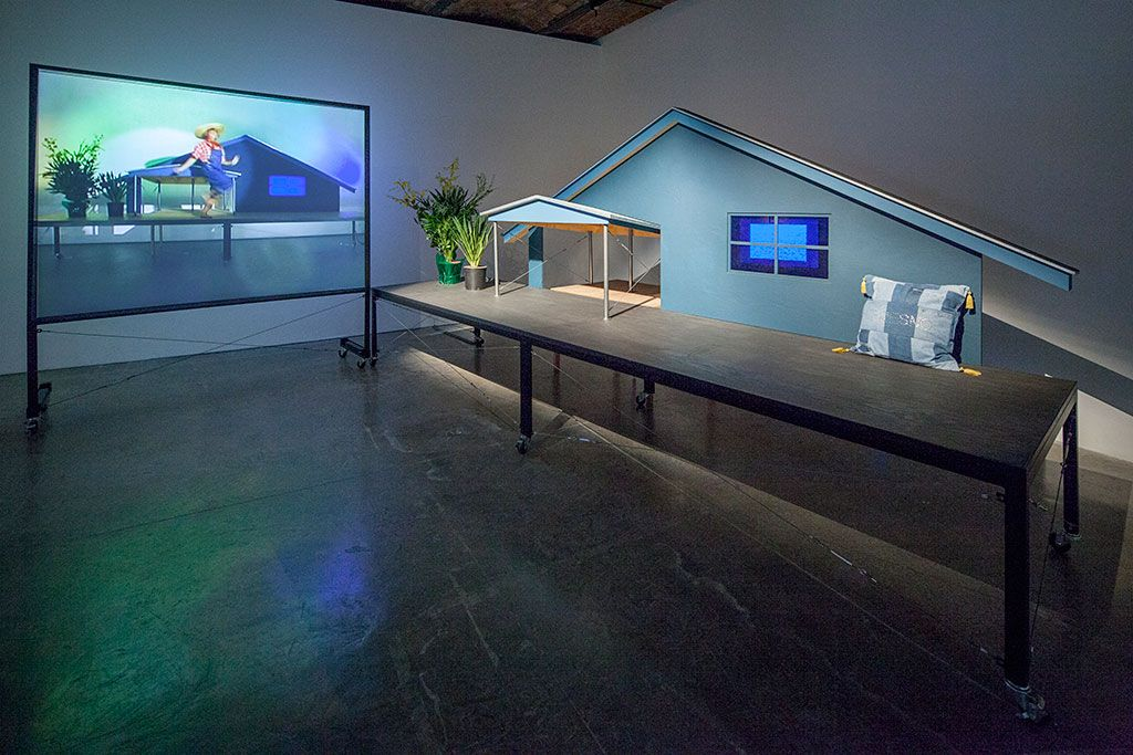 Mike Kelley Artist Domestic Architecture Art Blue Moma Art New York Exhibitions