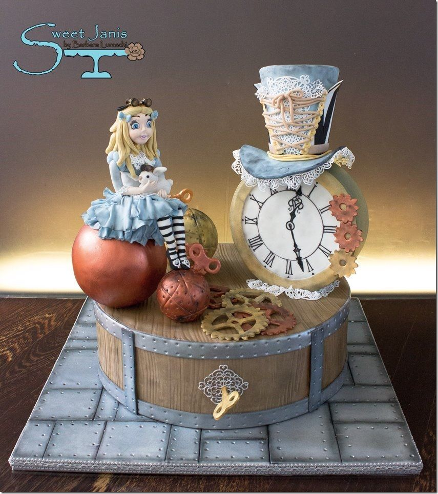 30 Creatively Cool Steampunk Diys: Cool Steampunk Alice In Wonderland Cake In 2019