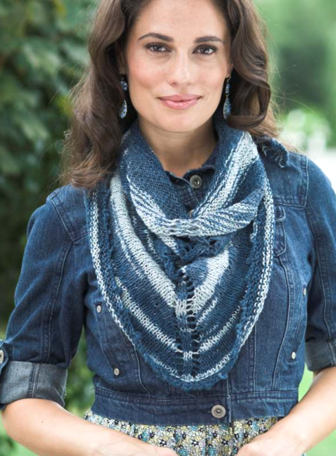 Linen Concerto Picot Scarf Free Knitting Pattern | NobleKnits Knitting Blog | Bloglovin'