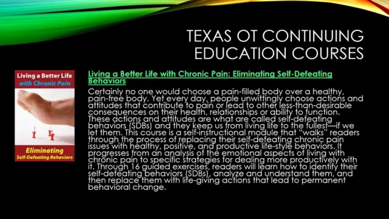Texas Occupational Therapists Continuing Education and Licensing