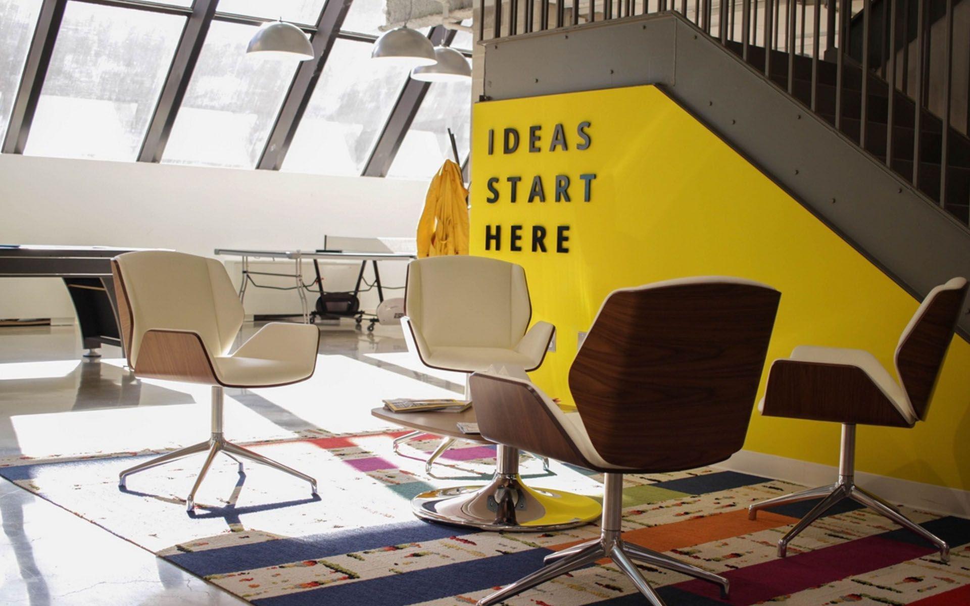 Yellow Office Hd Wallpaper Yellow Office Interior Yellow Walls