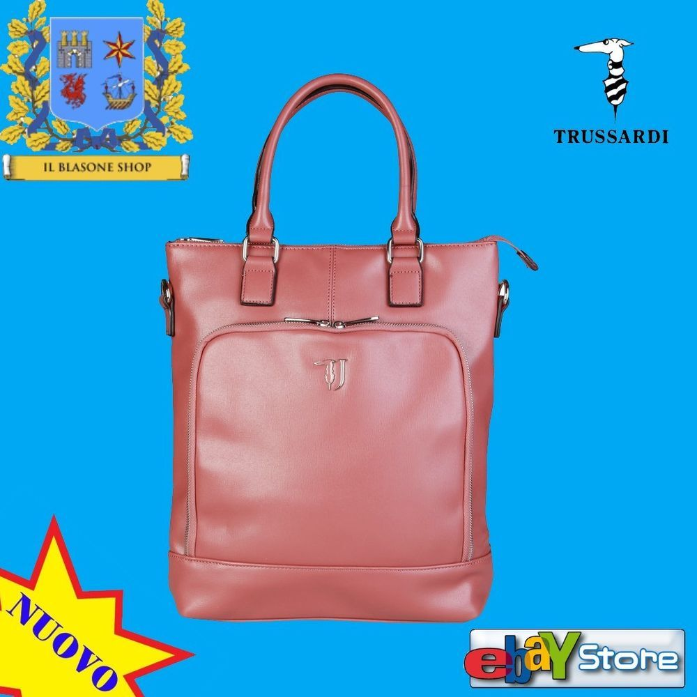 ca1cc5ca5e Borsa Donna Trussardi Jeans Spalla Mano Tracolla Shopper Rosa Antico Fashion