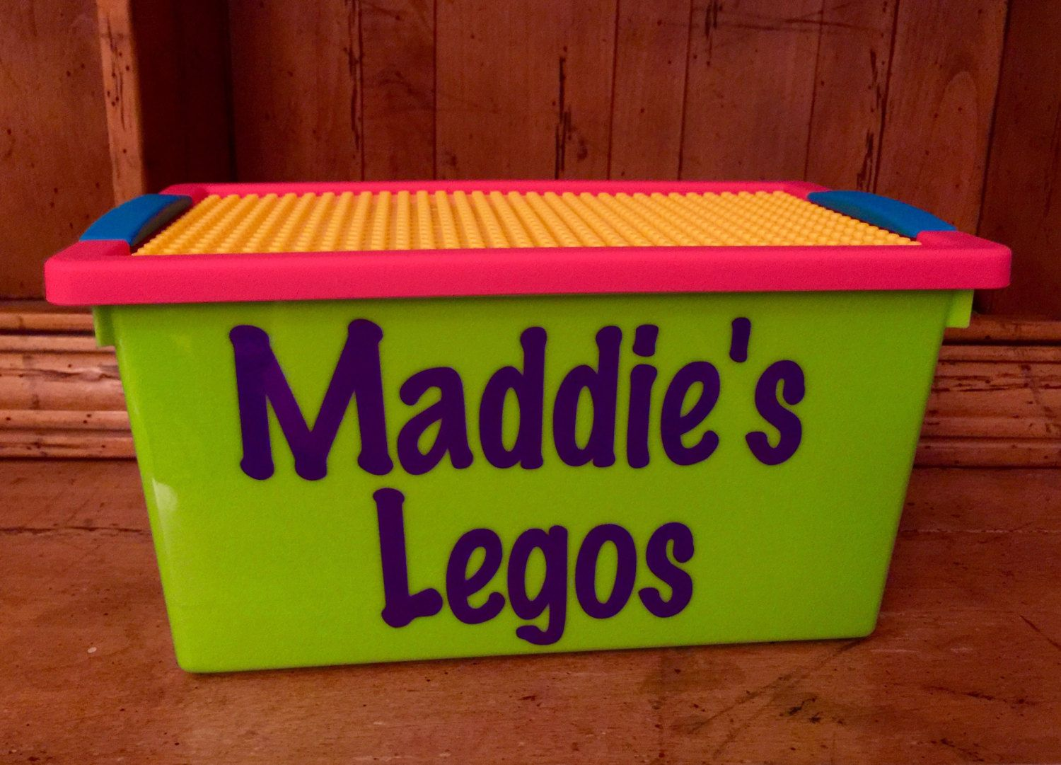 Personalized Lego Storage container Store Blocks inside and build