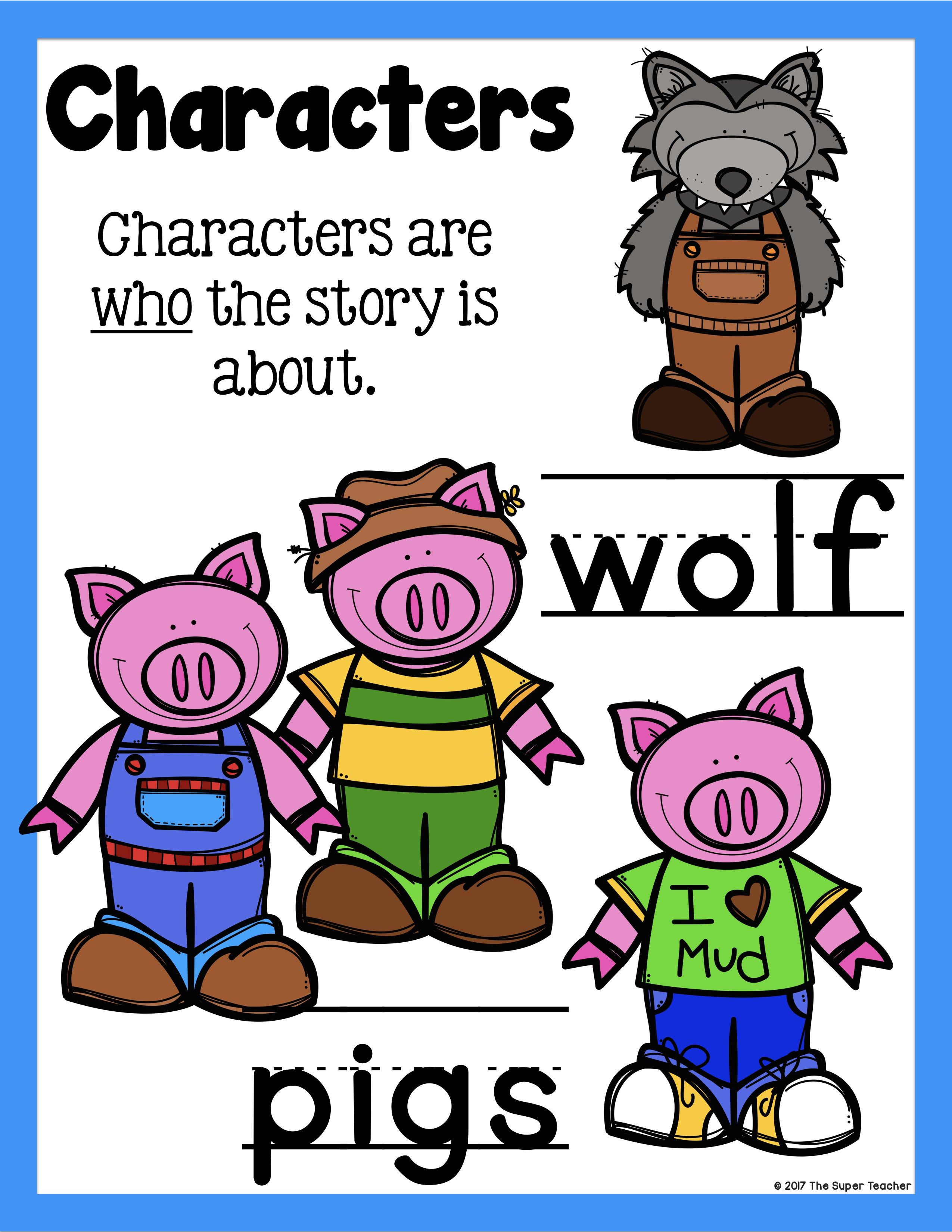 Simple Story Elements Made Practical And Fun Story Elements Three Little Pigs Story Phonics Practice [ 3300 x 2550 Pixel ]