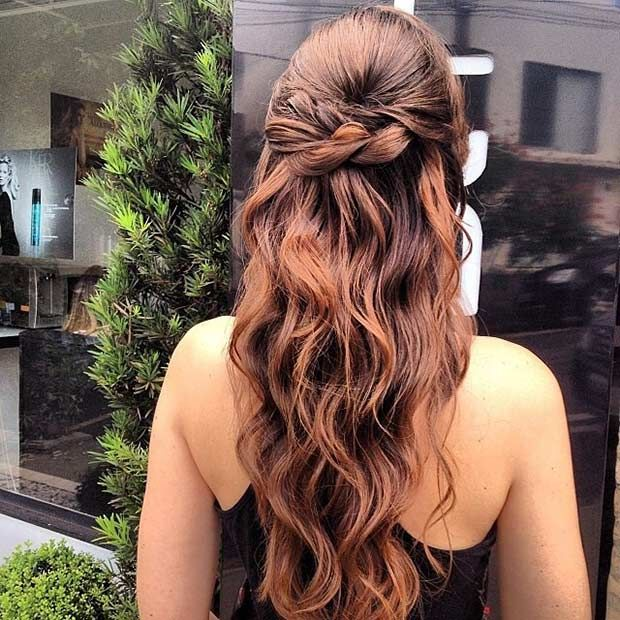 31 Half Up, Half Down Hairstyles for Bridesmaids   Prom hairstyles for long hair, Up hairstyles ...