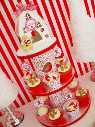 Christmas Candyland Party Desserts Table With Diy Printables Decorations